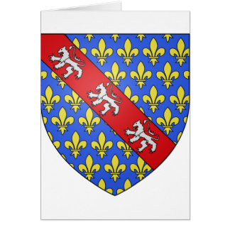 Marche (France)  Coat of Arms Greeting Card