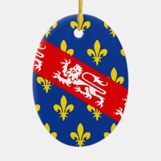 Marche (France) Flag Ceramic Ornament