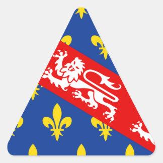 Marche (France) Flag Triangle Sticker