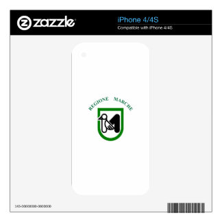 Marche (Italy) Flag Skins For The iPhone 4S
