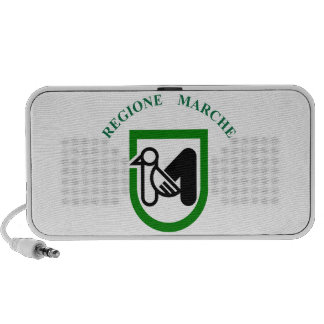 Marche (Italy) Flag Travelling Speakers