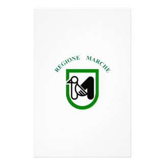 Marche (Italy) Flag Personalized Stationery