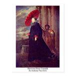 Marchesa Elena Grimaldi de Anthony Van Dyck Tarjeta Postal