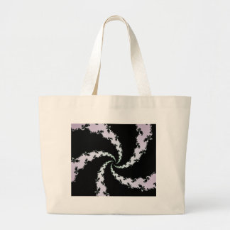 Marching Ant Swirl Fractal Large Tote Bag