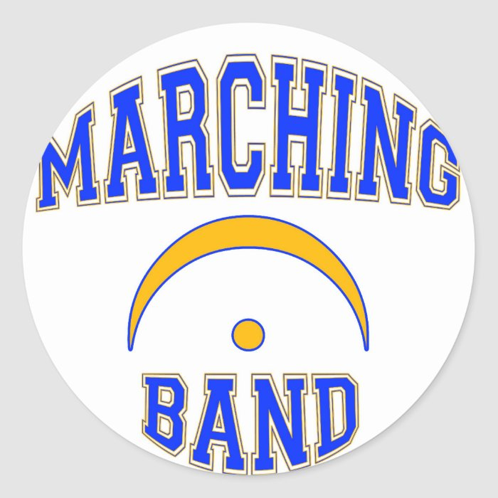 Marching Band and Proud of It Classic Round Sticker