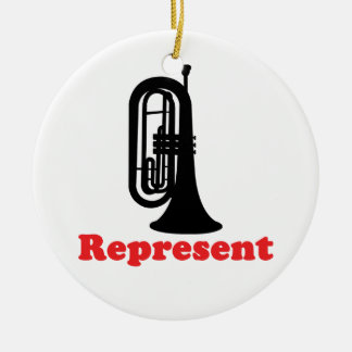 Marching Band Baritone Represent Ceramic Ornament
