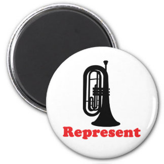 Marching Band Baritone Represent 2 Inch Round Magnet