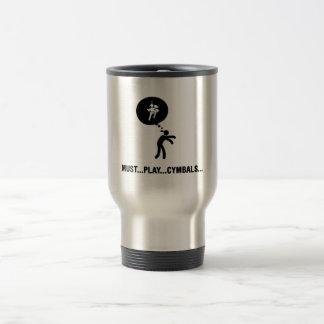 Marching Band - Bass Cymbal 15 Oz Stainless Steel Travel Mug