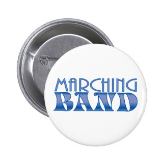 Marching Band Blues Button