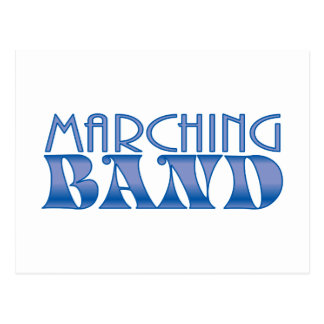 Marching Band Blues Postcard