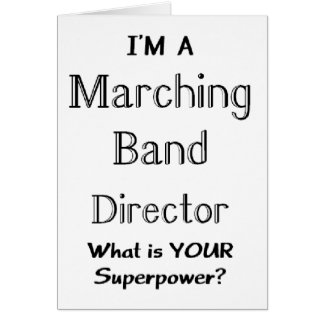 Marching band conductor card