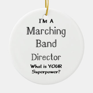 Marching band conductor ceramic ornament