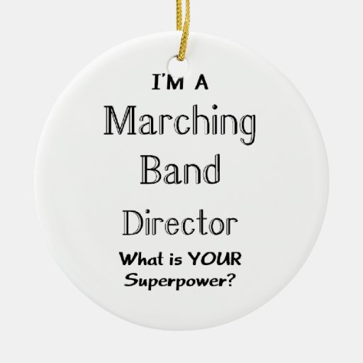 Marching band conductor Double-sided Ceramic Round Christmas Ornament
