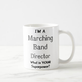 Marching band conductor classic white coffee mug