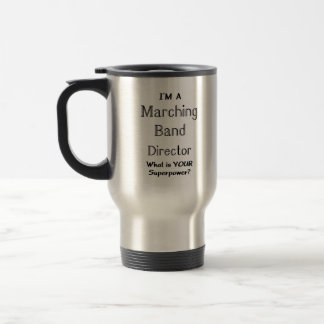 Marching band conductor travel mug