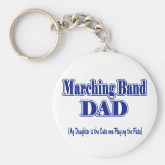 Marching Band Dad/ Flute Keychain