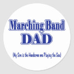 Marching Band Dad/ Sax Round Stickers