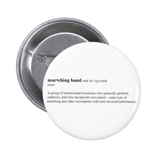 Marching Band Definition Pinback Button