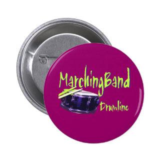 Marching Band Drumline 2 Inch Round Button