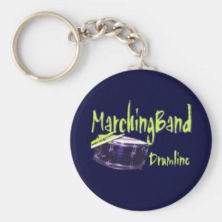 Marching Band Drumline Basic Round Button Keychain