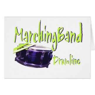 Marching Band Drumline Greeting Card