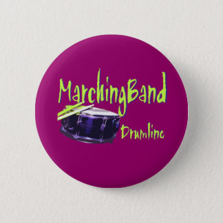Marching Band Drumline Pinback Button