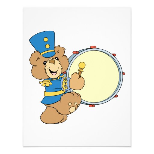 Marching Band Drummer Bear Announcements