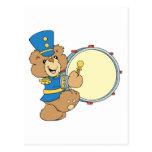 Marching Band Drummer Bear Post Cards