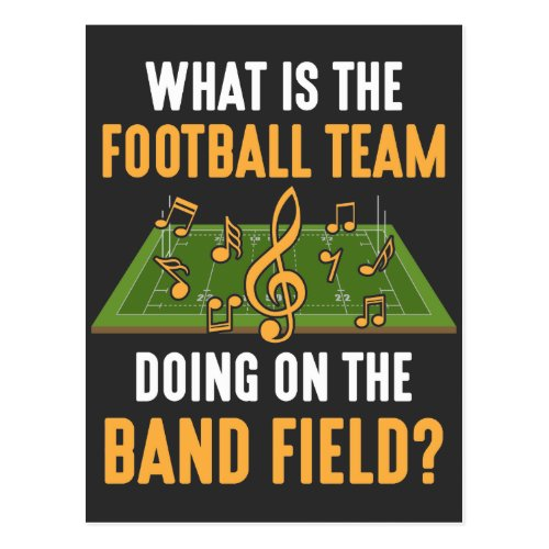 Marching Band Field Director Football Team Orchest Postcard