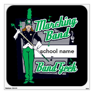 Marching Band Geek Green Wall Decal