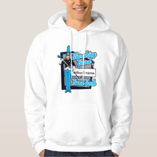 Marching Band Geek Light Blue Hoodie