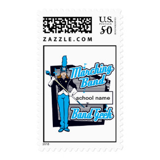 Marching Band Geek Light Blue Postage