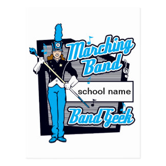 Marching Band Geek Light Blue Postcard