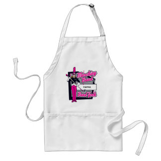 Marching Band Geek Pink Adult Apron