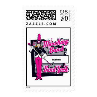 Marching Band Geek Pink Postage