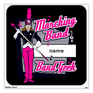 Marching Band Geek Pink Wall Sticker