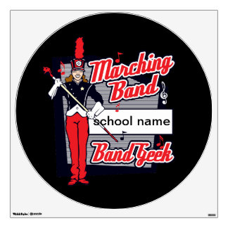 Marching Band Geek Red Wall Decal