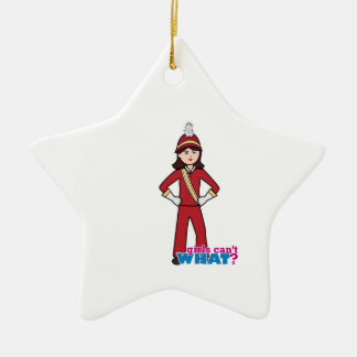 Marching Band Girl Double-Sided Star Ceramic Christmas Ornament