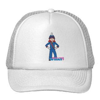 Marching Band Girl Light/Red Trucker Hat