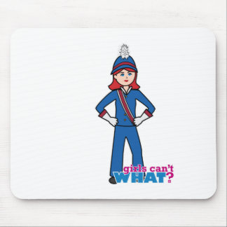 Marching Band Girl Light/Red Mouse Pad