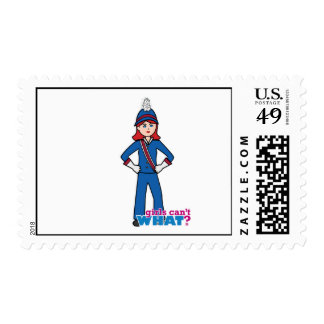 Marching Band Girl Light/Red Postage
