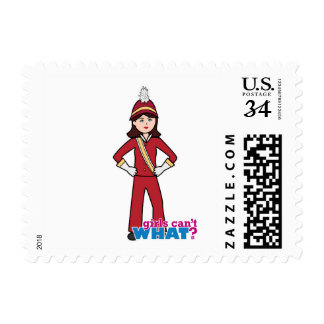 Marching Band Girl Postage