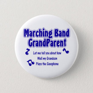 Marching Band Grandparent/ Saxophone Button