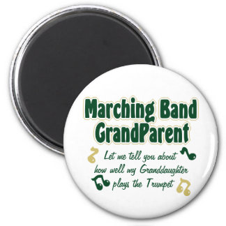 Marching Band Grandparent Trumpet 2 Inch Round Magnet