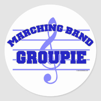 Marching Band Groupie Classic Round Sticker