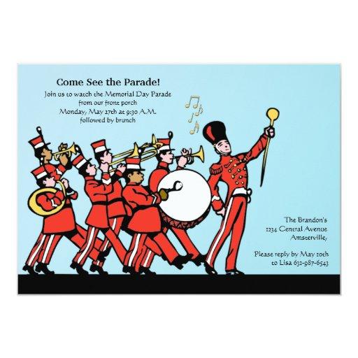 "Marching Band Invitation 5"" X 7"" Invitation Card"