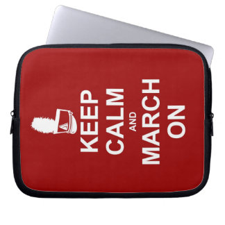 Marching Band Keep Calm and March On Computer Sleeve