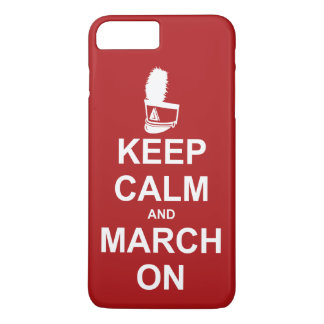 Marching Band Keep Calm and March On iPhone 8 Plus/7 Plus Case