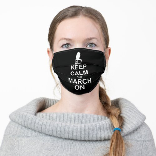 Marching Band  Keep Calm Shako  Custom Color Adult Cloth Face Mask