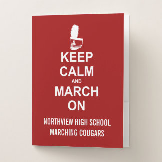 Marching Band Keep Calm Shako | CUSTOM COLOR Pocket Folder
